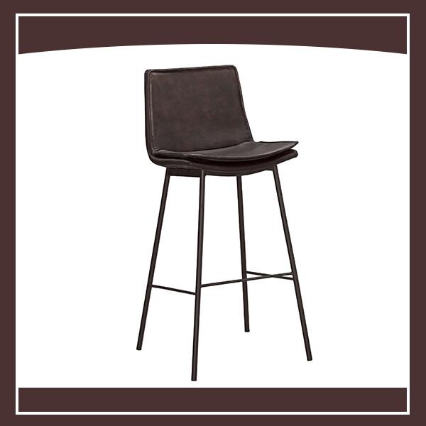 海格吧椅(棕色皮) 210571077006