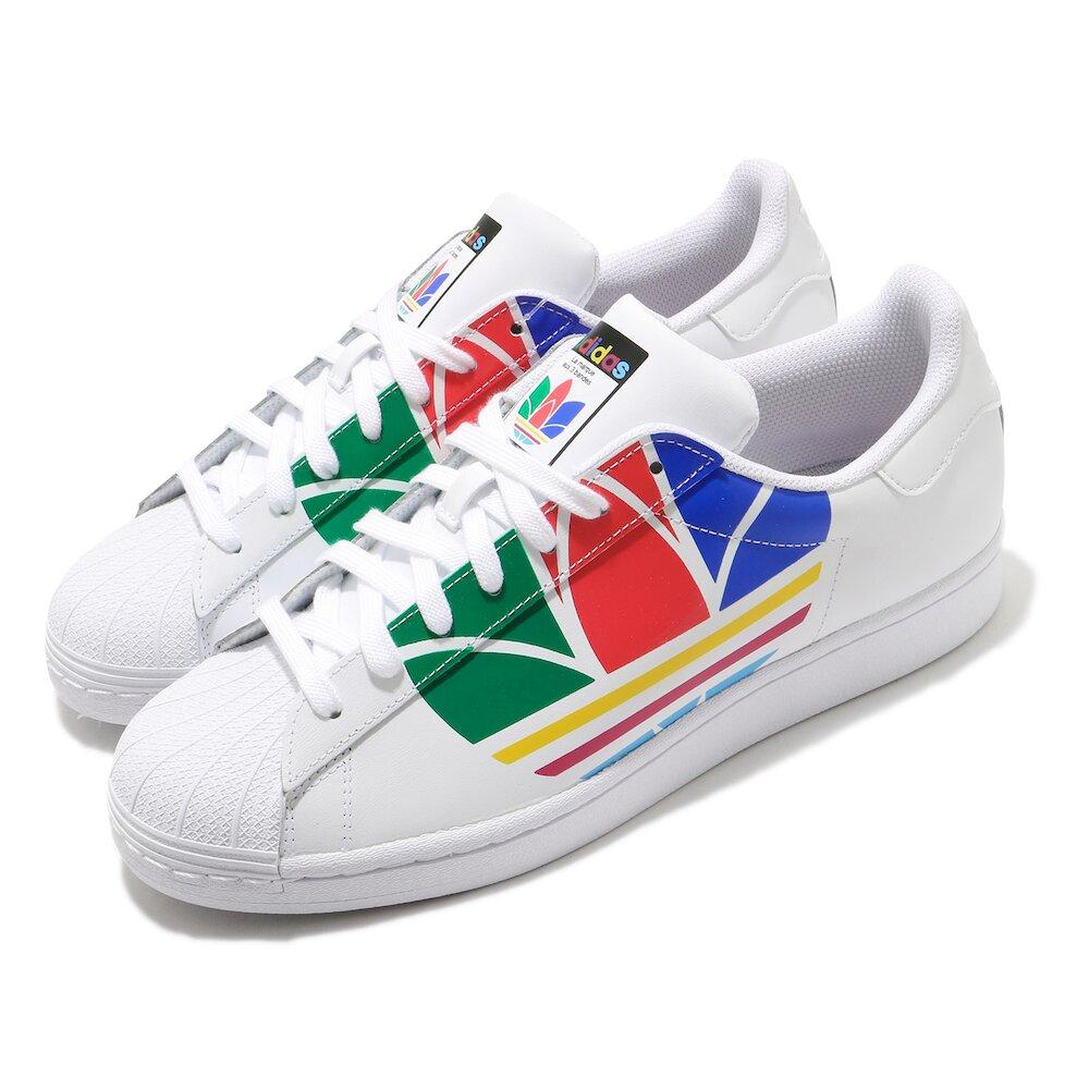 ADIDAS 休閒鞋 Superstar Pure 復古 男鞋 愛迪達 三葉草 貝殼頭 皮革鞋面 穿搭 白 彩 [FU9519]