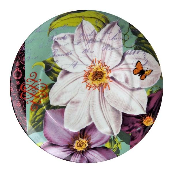 德國Waechtersbach-AKZENTE德國經典彩繪系列(Impressions白花)390ml馬克杯盤組