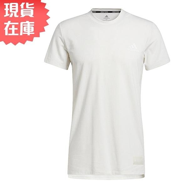Adidas STU TECH 男裝 短袖 T恤 慢跑 訓練 吸濕排汗 前短後長 白【運動世界】GL0446