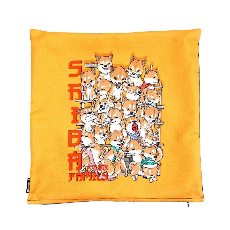 柴犬家庭枕頭套新年禮物