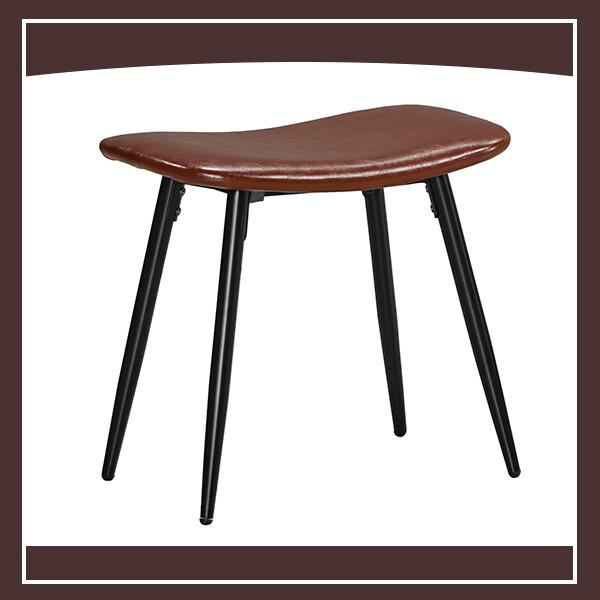 西弗爾板凳(棕色皮)(五金腳) 210571080010