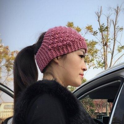 髮帶 頭巾秋冬手工針織保暖護耳毛線帽超寬髮帶