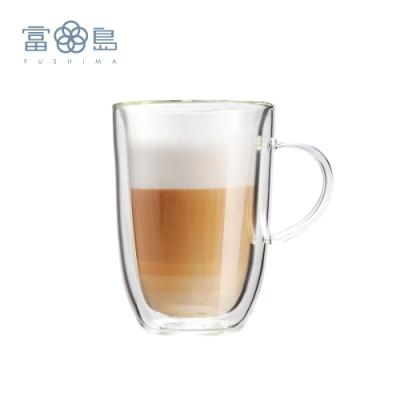 FUSHIMA 富島 極厚系列雙層耐熱玻璃杯350ML-把手(快)