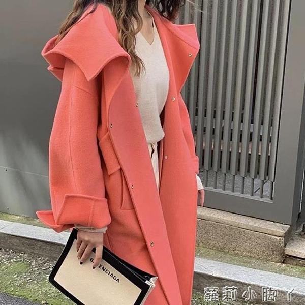 2020秋季新款雙面羊毛呢子大衣女時尚韓版赫本風中長款女神范外套 NMS蘿莉新品