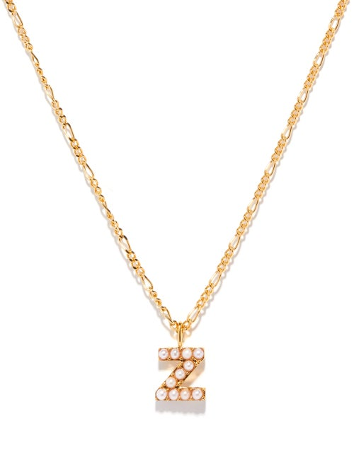 Otiumberg - Alphabet Pearl & 14kt Gold-vermeil N-z Necklace - Womens - Pearl