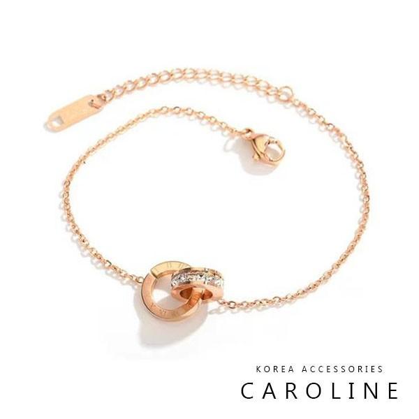 《Caroline》韓國時尚風格項鍊網紅ins絢麗閃亮動人鈦鋼手鍊72701