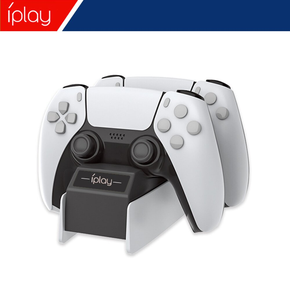【SONY索尼】PS5副廠遊戲手柄充電器 雙手把控制器充電座(收納充電座)