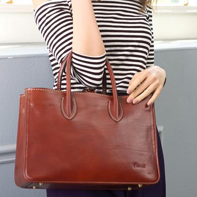 FOCUS經典原皮方型時尚手提包【小】(FTE7020)
