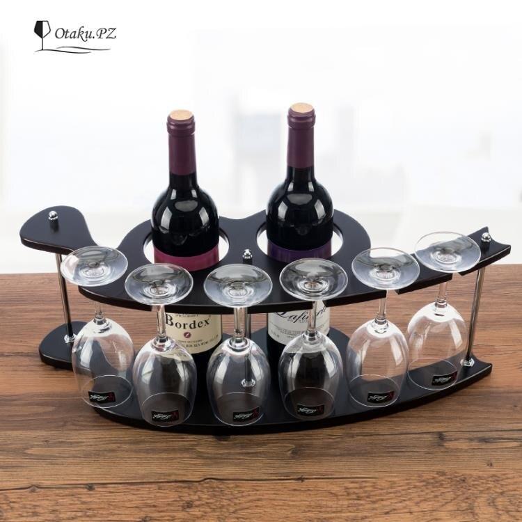 新款實木酒架復古木質紅酒架創意葡萄酒架倒掛酒杯架懸掛酒架 創時代 新年春節送禮