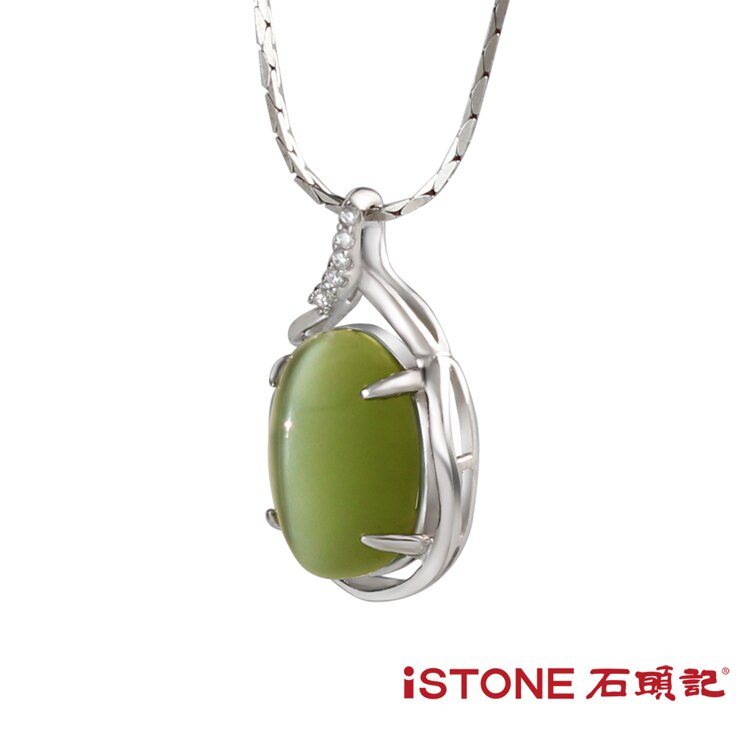 925純銀貓眼項鍊-優雅 石頭記