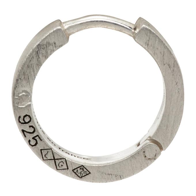 Le Gramme 单只银色 Le 1.7 Grammes Ribbon 拉丝耳环