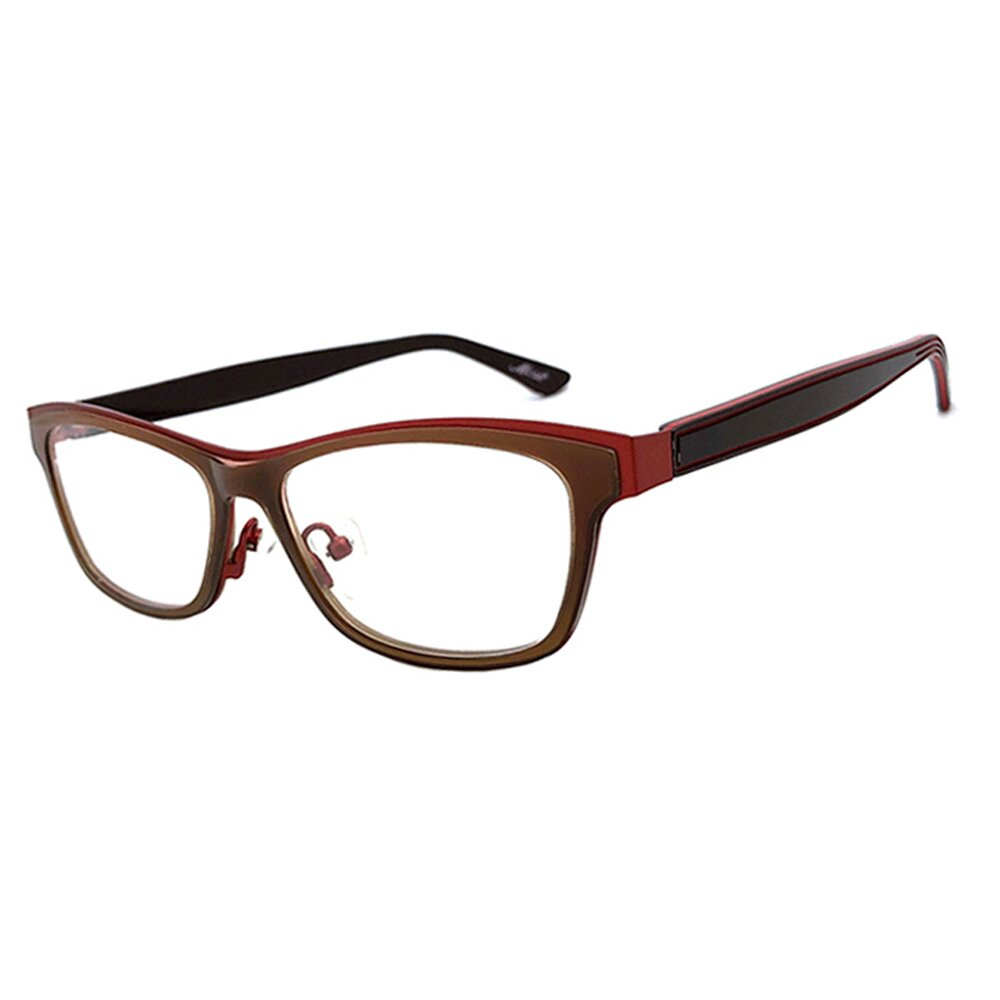 【SUNS】薄鋼+TR系列光學眼鏡鏡框 橘紅框雙色框(複合材質/全框)