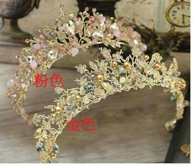 瑪姬現貨皇冠新娘飾品瑪姬主義-  A1193     金鑽新娘造型皇冠--新娘秘書新秘用品婚禮配飾專賣--