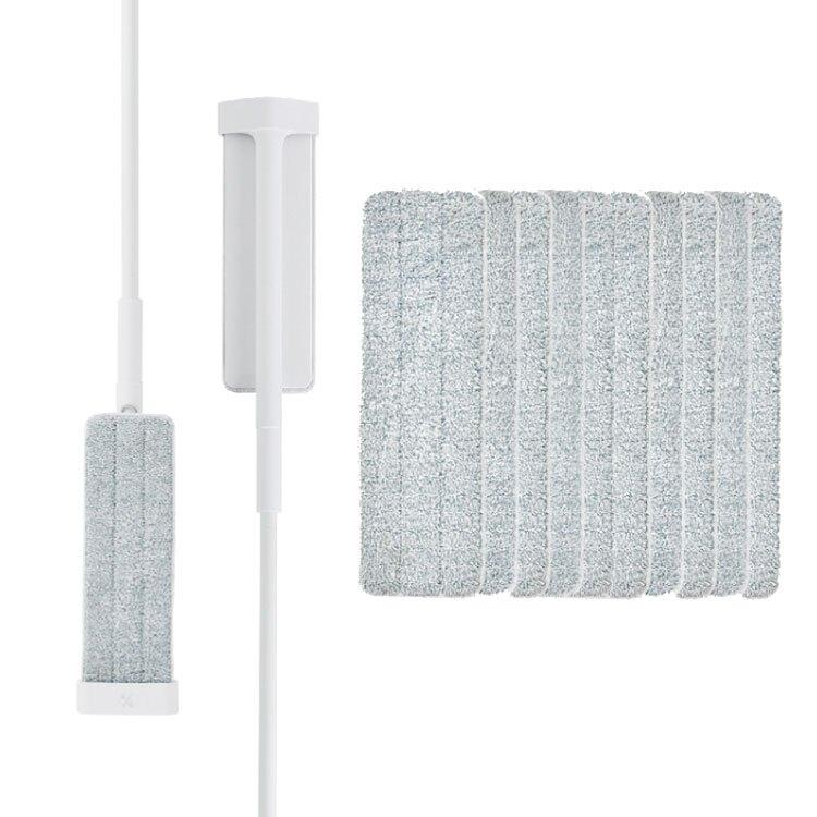 百潔 PERCENT-QUICK MOP_免手洗高效平板拖把x2+高纖效能替換拖布x10【比漾廣場】