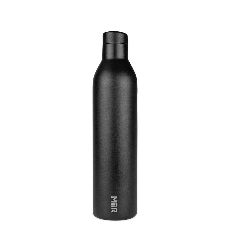 MiiR 雙層真空 保溫  / 保冰 酒瓶造型 水壺 保溫瓶  750ml / 25.3oz 經典黑