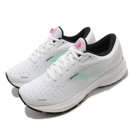 Brooks 慢跑鞋 Ghost 13 運動 女鞋 路跑 緩震 DNA科技 透氣 健身 球鞋 白 綠 1203381B103 1203381B103