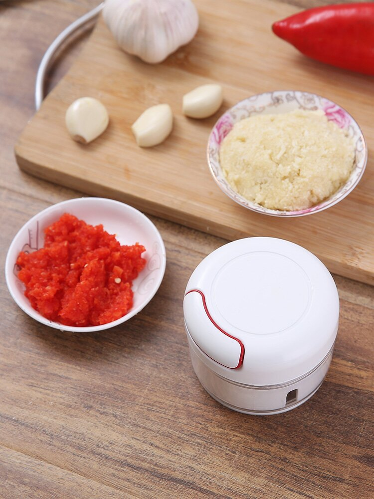 迷你調料攪碎神器小型辣椒攪碎器打佐料搗蒜泥粉碎機多功能切菜器1入