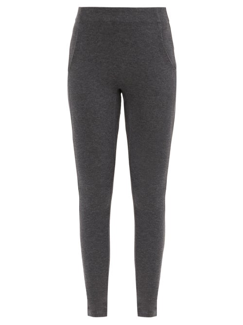 Lunya - Restore High-rise Cotton-blend Leggings - Womens - Dark Grey