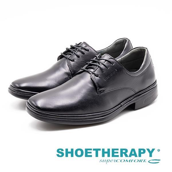 【南紡購物中心】SAPATOTERAPIA 巴西 經典素面繫帶紳士皮鞋 男鞋-黑