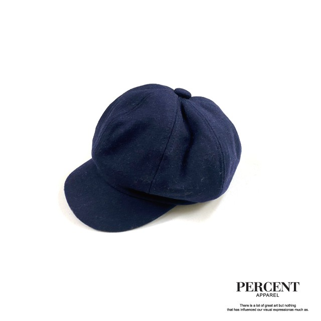 PERCENT%素面毛呢報童帽 綠 深藍 卡其 復古 報童帽 古著 日系穿搭 工裝 簡約 潮流