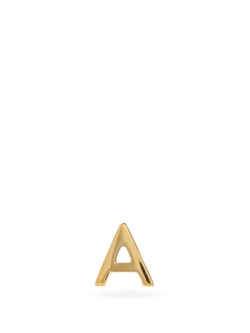 Otiumberg - Alphabet 9kt Gold A-m Single Earring - Womens - Yellow Gold