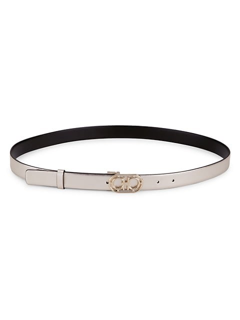 Donna Gancini Buckle Leather Belt