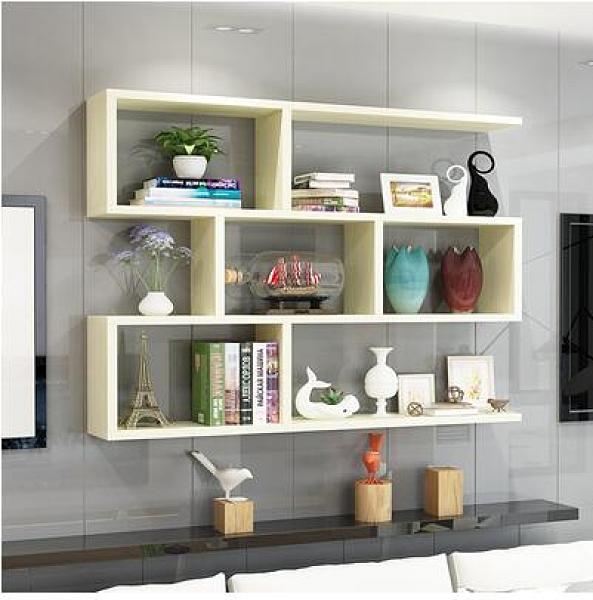 客廳裝飾架 墻上置物架壁掛書架墻架客廳墻面裝飾現代簡約墻壁儲物吊柜TW【快速出貨八折鉅惠】