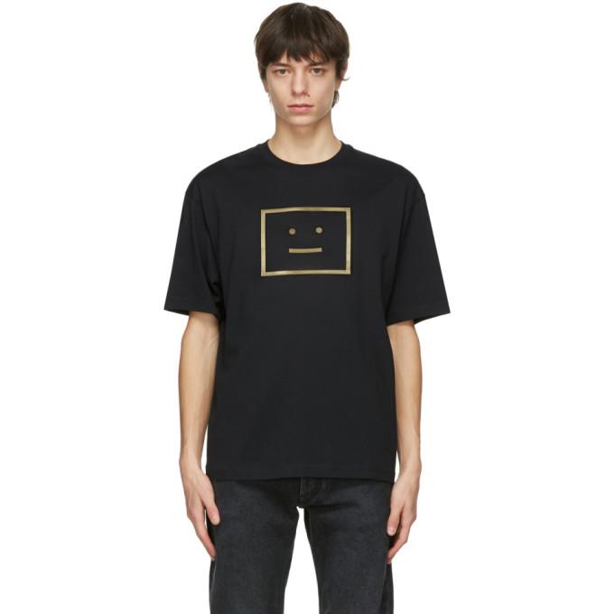 Acne Studios 黑色 Metallic Logo T 恤