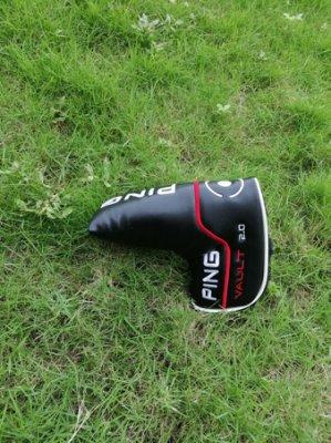 握把新款高爾夫PING直條推桿套 磁鐵閉合PU材質PING球桿球頭保護套