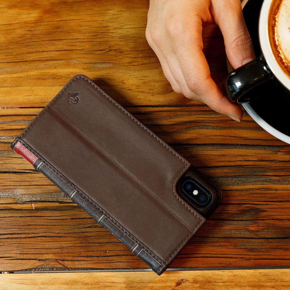 Twelve South BookBook iPhone Xs Max 復古書仿舊皮革保護套 - 棕色