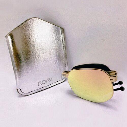 【ROAV】薄鋼 太陽眼鏡 折疊墨鏡 NY001 C14.66 粉水銀 玫瑰金框 美國 OVERSIZE 60mm