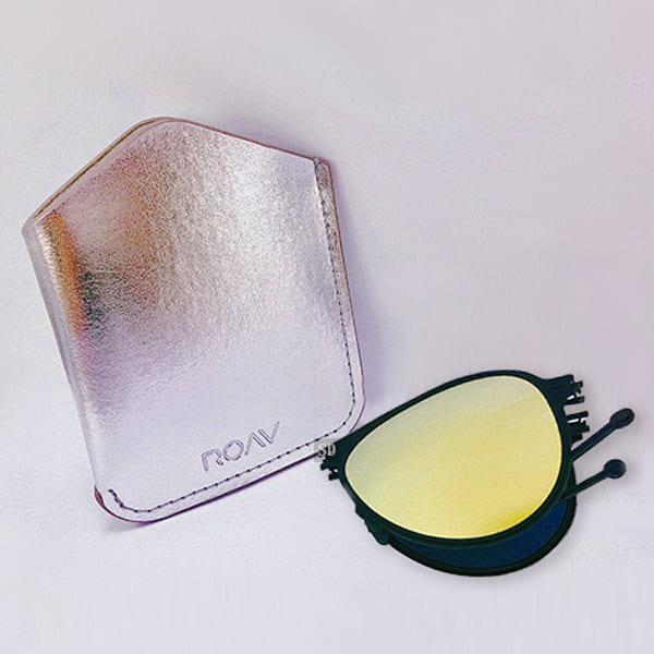 【ROAV】偏光太陽眼鏡 薄鋼折疊墨鏡 Mod 8101 C13.41 水銀金 黑框 飛官款墨鏡 美國 59mm