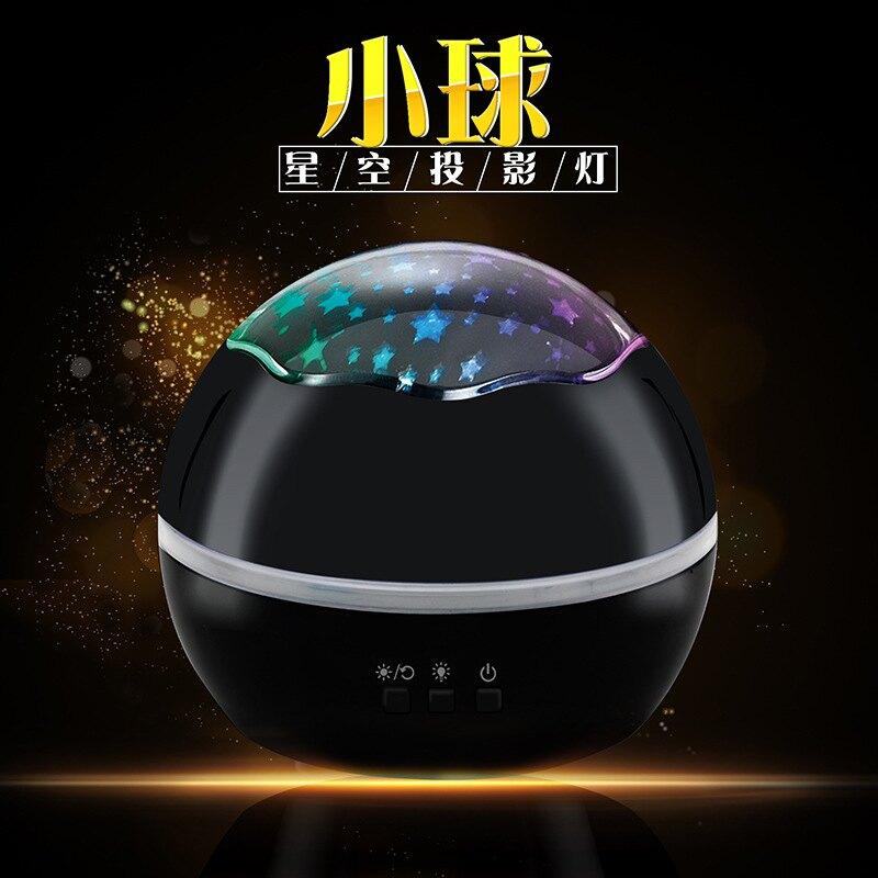 外貿亞馬遜爆款小球星空投影燈 旋轉USB海洋投影儀生日禮品小夜燈 交換禮物