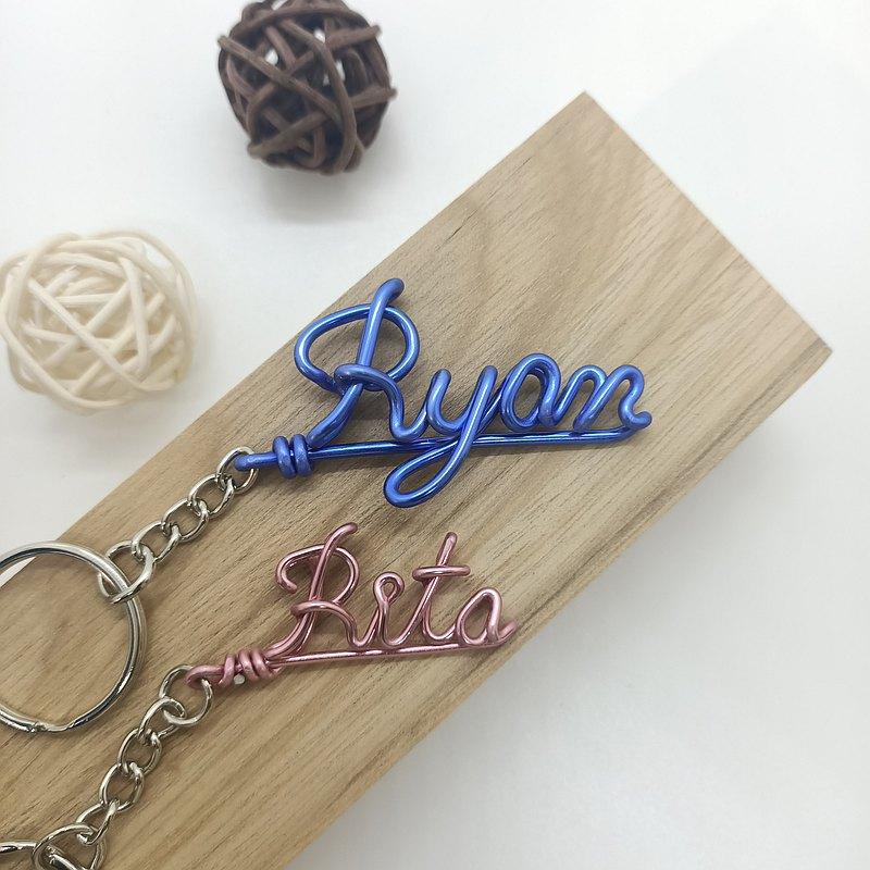 Wire lover 英文折字、客製化、金屬線創作、英文鑰匙圈