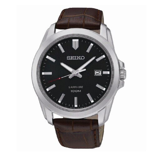 SEIKO CS紳士品味男腕錶/黑面x咖皮/SGEH49P2(7N42-0GD0C)