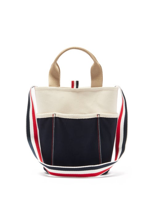Thom Browne - Cotton-canvas Cross-body Bag - Mens - Beige