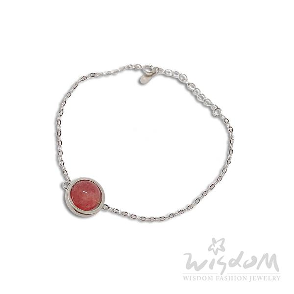 威世登 草莓石銀手鍊 SC00116- GXX