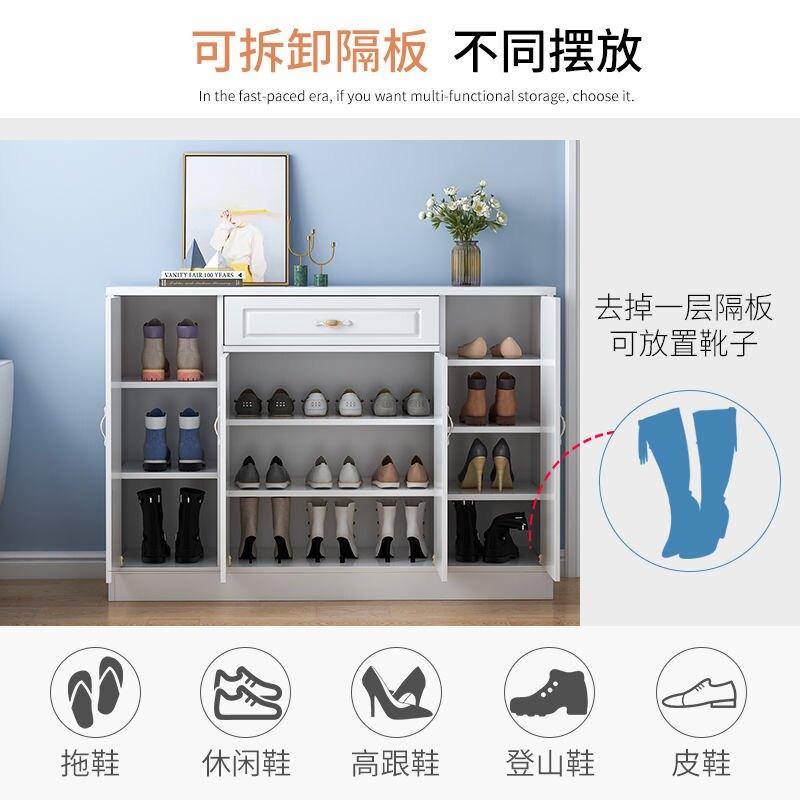 歐式鞋櫃家用門口簡約現代木質鞋架簡易多功