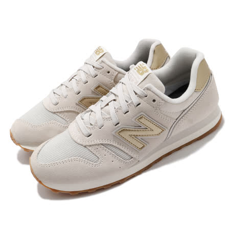 New Balance 休閒鞋 373 低筒 運動 女鞋 紐巴倫 基本款 簡約 麂皮 球鞋 穿搭 米 金 WL373FC2B WL373FC2B