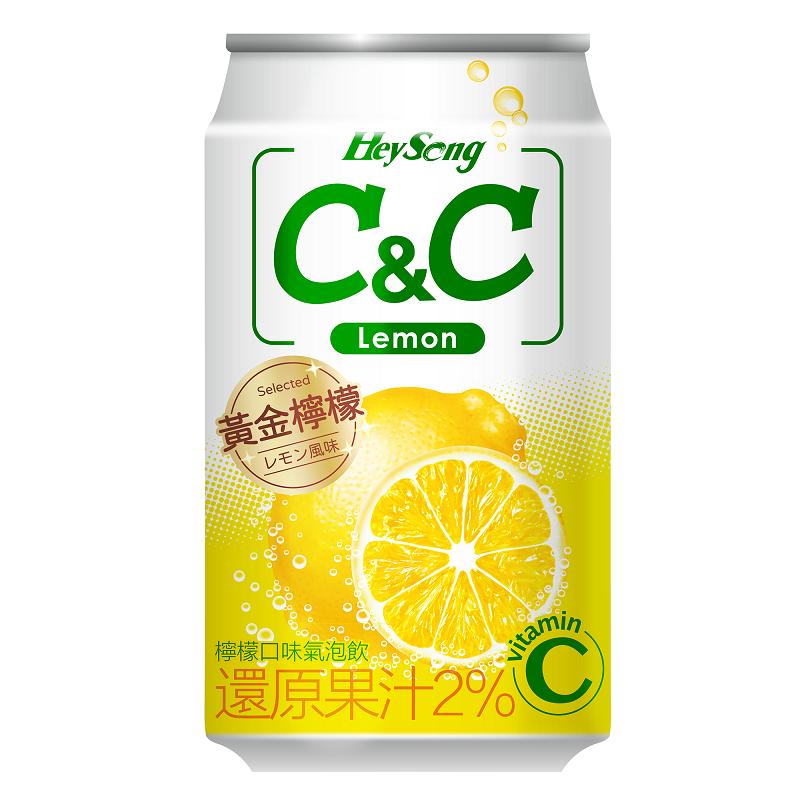 黑松CC檸檬氣泡飲can-330ml