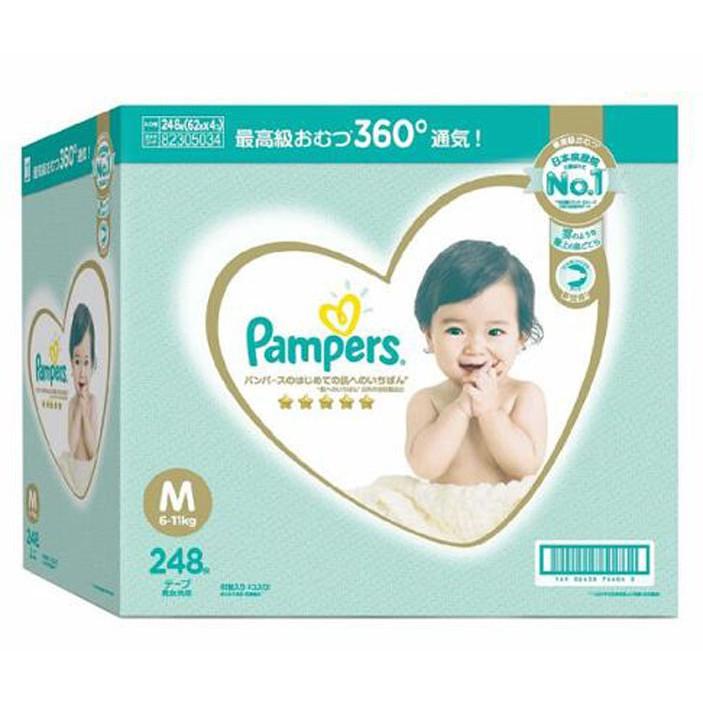 PAMPERS DIAPER幫寶適一級幫M號6-11公斤248片 日本境內版 C156694
