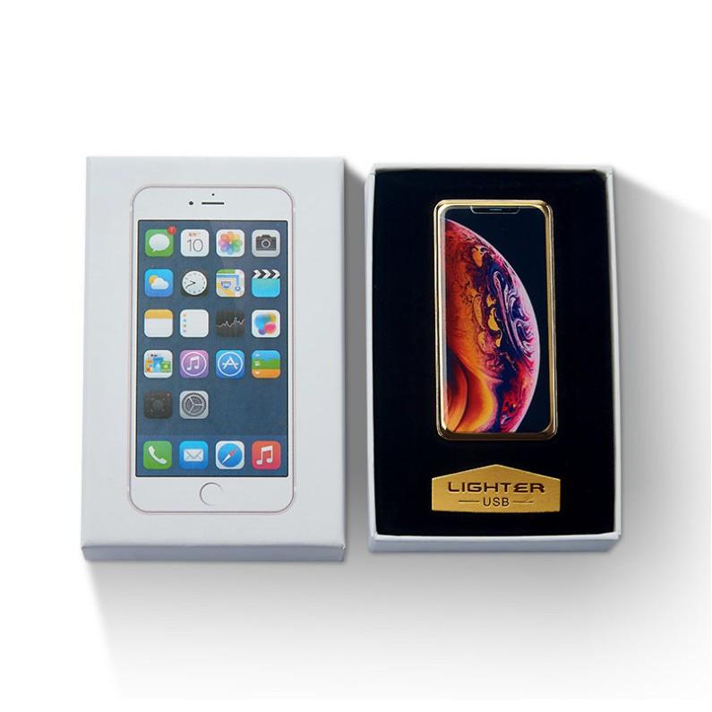 IPhone造型點菸器 手機 防風 USB打火機 生日禮物 交換禮物 電磁 充電打火機【HT63】
