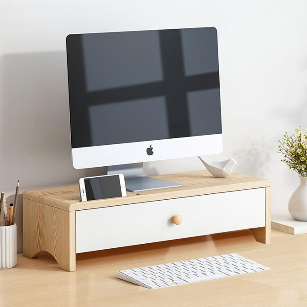 【U-mop】桌上螢幕架 實木 木製 木頭 原木 螢幕增高架 電腦螢幕架 收納架 桌面收納 筆電架 電腦架