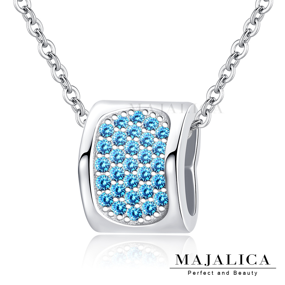 Majalica 純銀項鍊 寵愛 愛心造型  925純銀 鎖骨鍊 淑女項鍊 贈刻字 單個價格 三色任選 PN8176