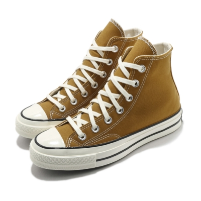 Converse 休閒鞋 All Star 高筒 穿搭 男女鞋 基本款 簡約 三星黑標 帆布 情侶款 棕 米白 170090C