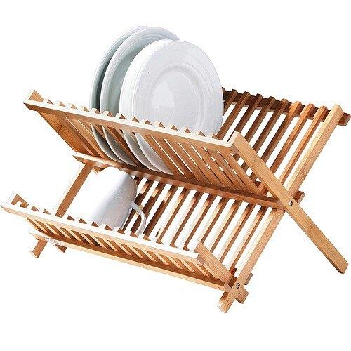 《Premier》竹製摺疊碗盤瀝水架(40cm)