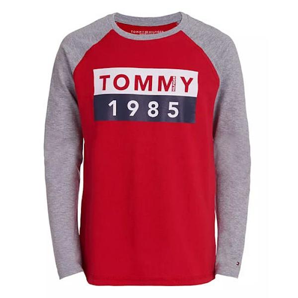 Tommy Hilfiger 大男童長袖T恤(紅)