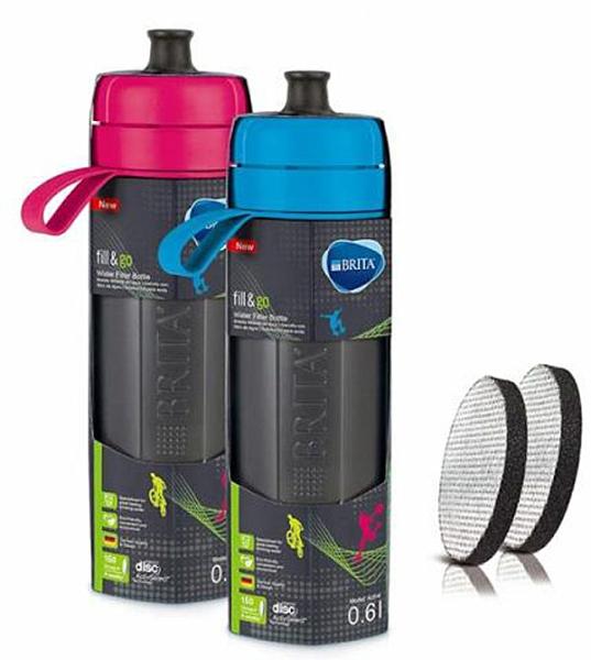 [COSCO代購] W127000 Brita 運動濾水瓶兩件組0.6L 含濾芯片4片