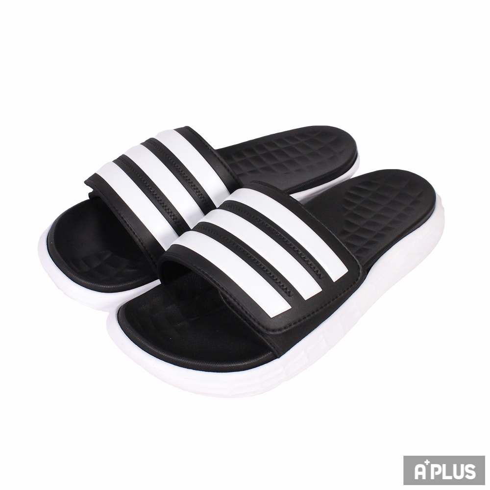 ADIDAS 男 DURAMO SL SLIDE 拖鞋 三條線 黑色 - FY8786